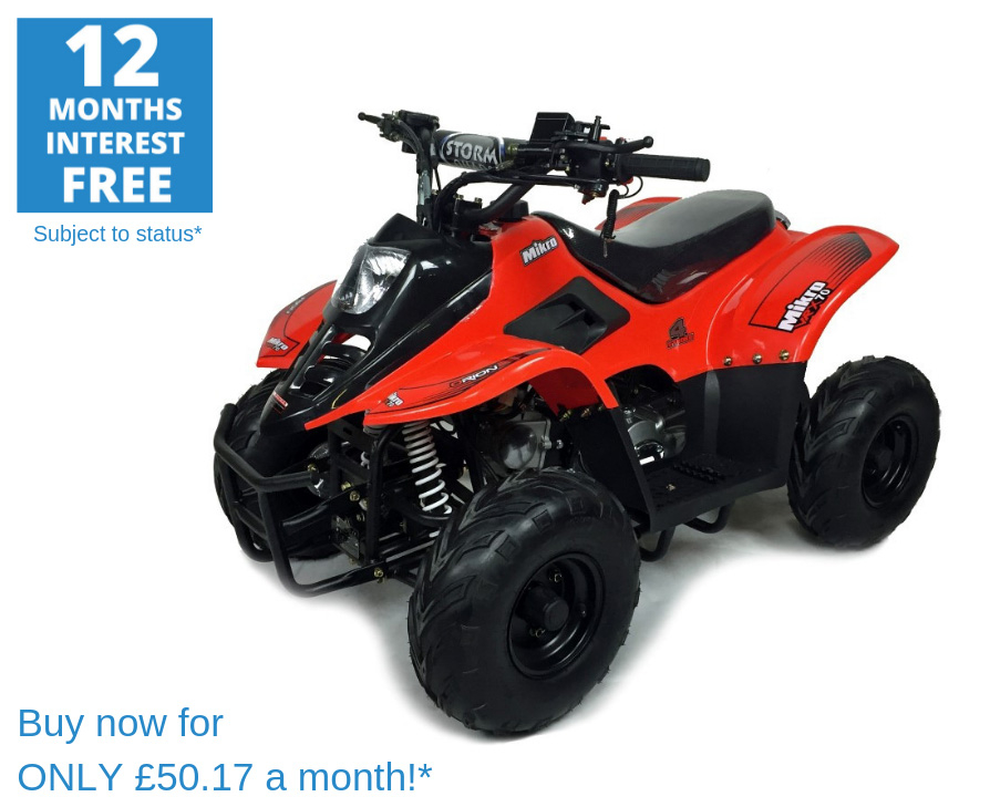 2020 VRX70 Kids Quad Bike With Remote Safety Cut Off - RED