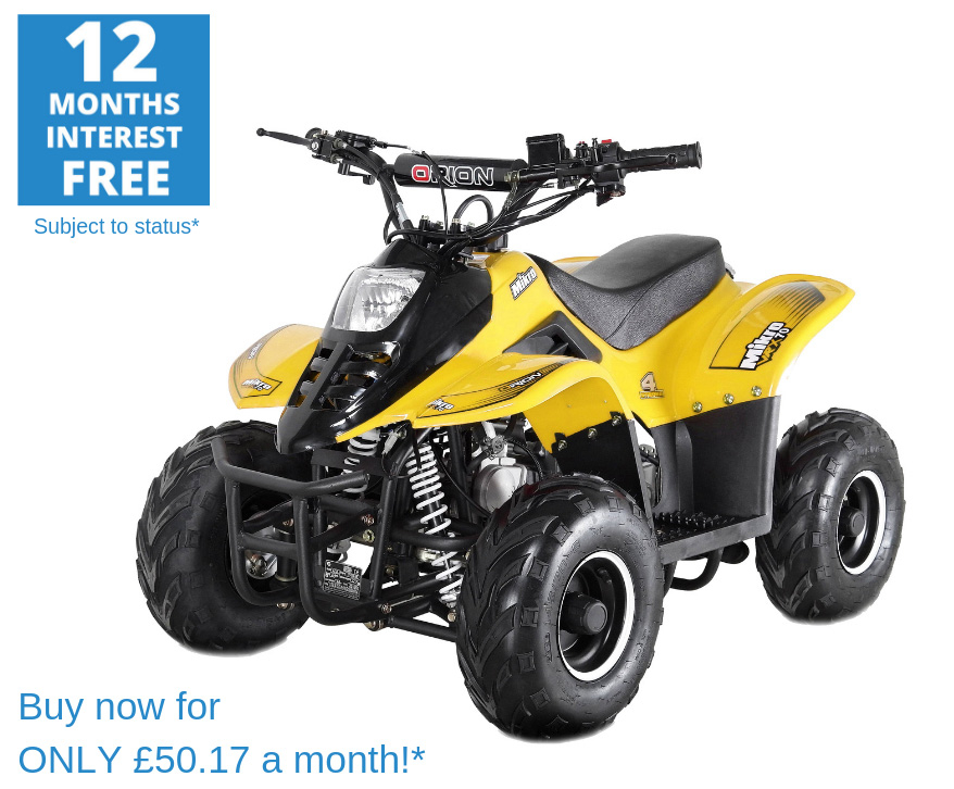 2020 VRX70 Kids Quad Bike With Remote Safety Cut Off - YELLOW