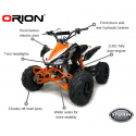 ORION PANTHER 110cc KIDS QUAD BIKE - ORANGE