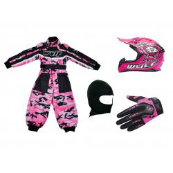 Pink Camo Wulfsport Clothing & Helmet Discount Bundle Deal