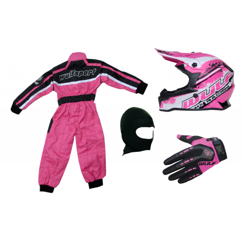 Pink Wulfsport Clothing & Helmet Discount Bundle Deal