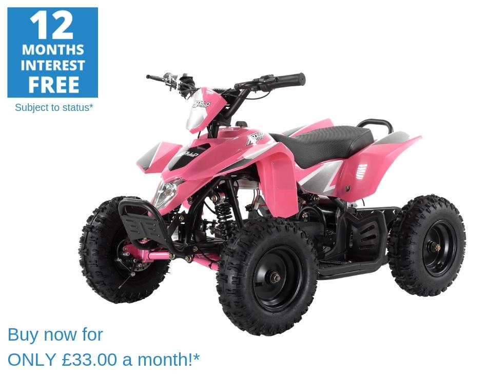 Puma 1000w Kids Electric Mini Quad - Fully Assembled & Tested - Pink