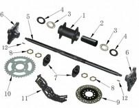 Rear Axle & Hub Parts
