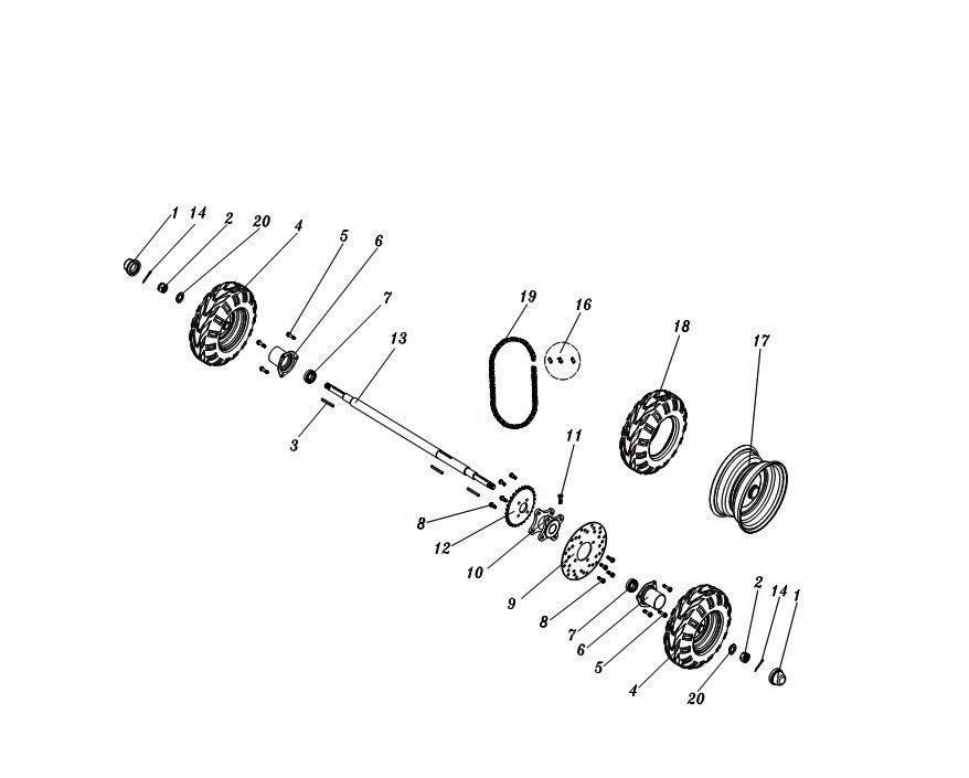Rear Axle & Wheel Parts