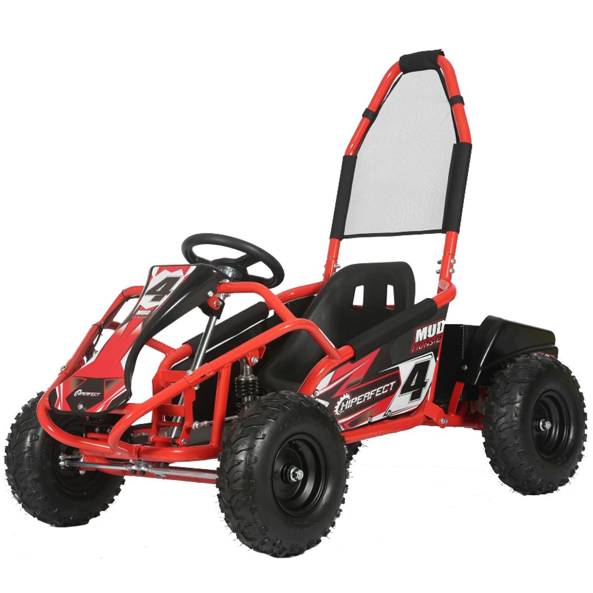 Red Mud Monster 1000w 20ah 48v Kids Electric Go Kart