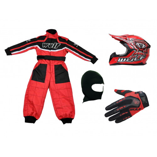 Red Wulfsport Clothing & Helmet Discount Bundle Deal