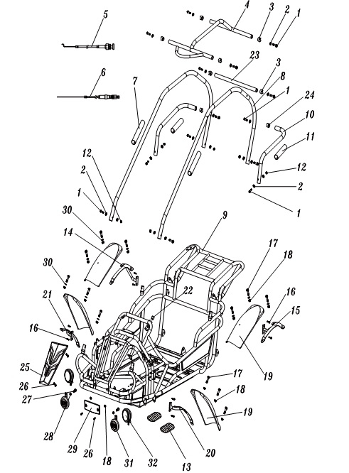 Reverse Parts (208R Only)
