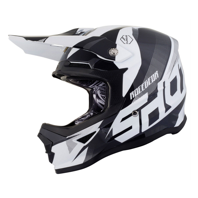 Shot Furious 'Ultimate' Black & White Kids MX Helmet