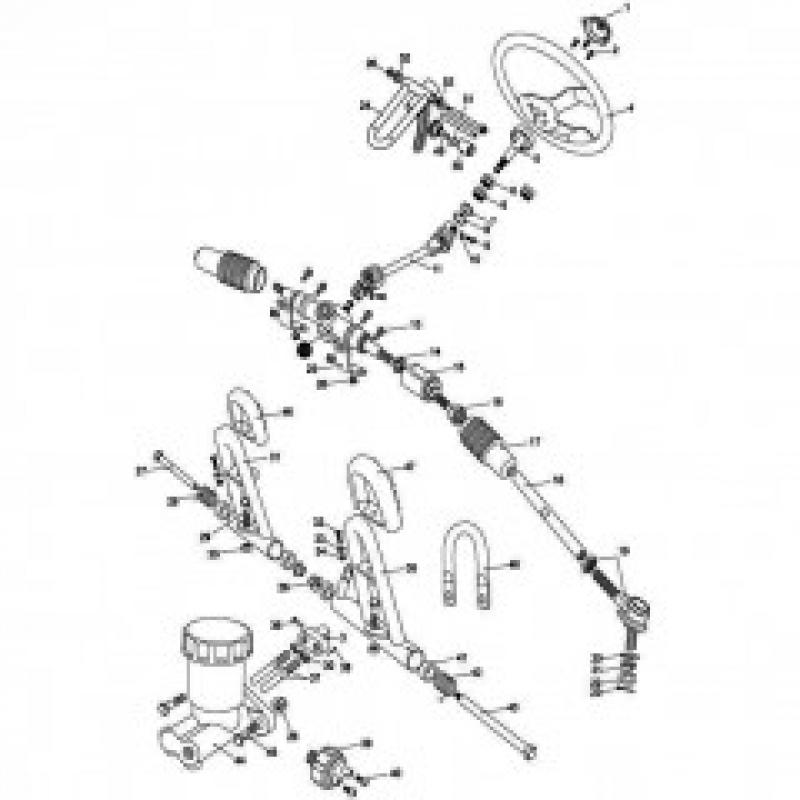Steering Shaft / Brake Pedal