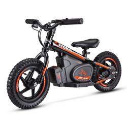 "Storm Kids 100w 12"" Electric Balance Bike - Black"