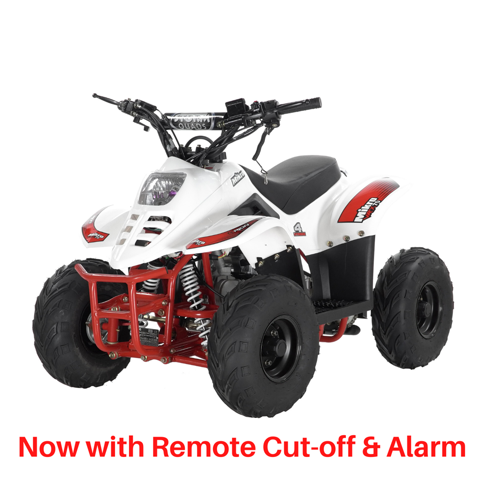 BUNDLE DEAL! 2021 VRX70 Kids Quad Bike With Remote Safety Cut Off - WHITE