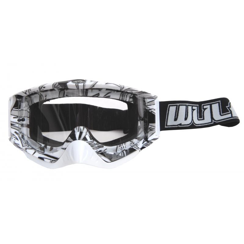 Wulfsport Adult Geo Goggles - White/Black
