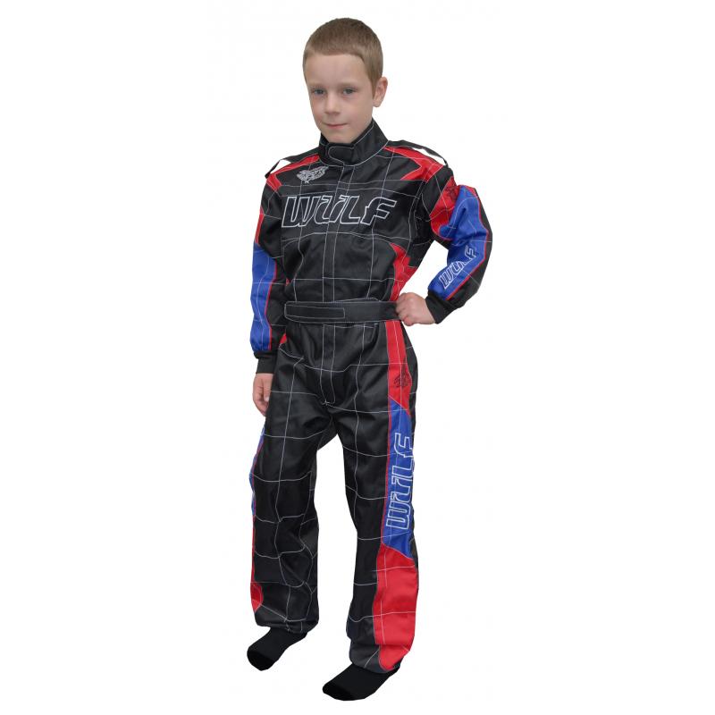 Wulfsport Cub Grand Prix Racing Suit - Black/Red/Blue