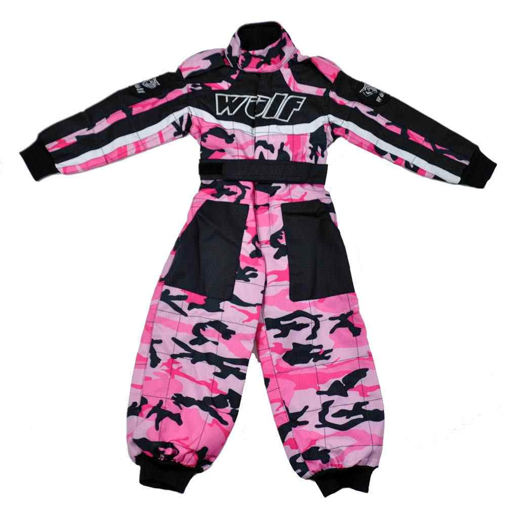 Wulfsport Cub Racing Camo Suit - Pink