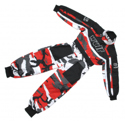 Wulfsport Cub Racing Camo suit - Red