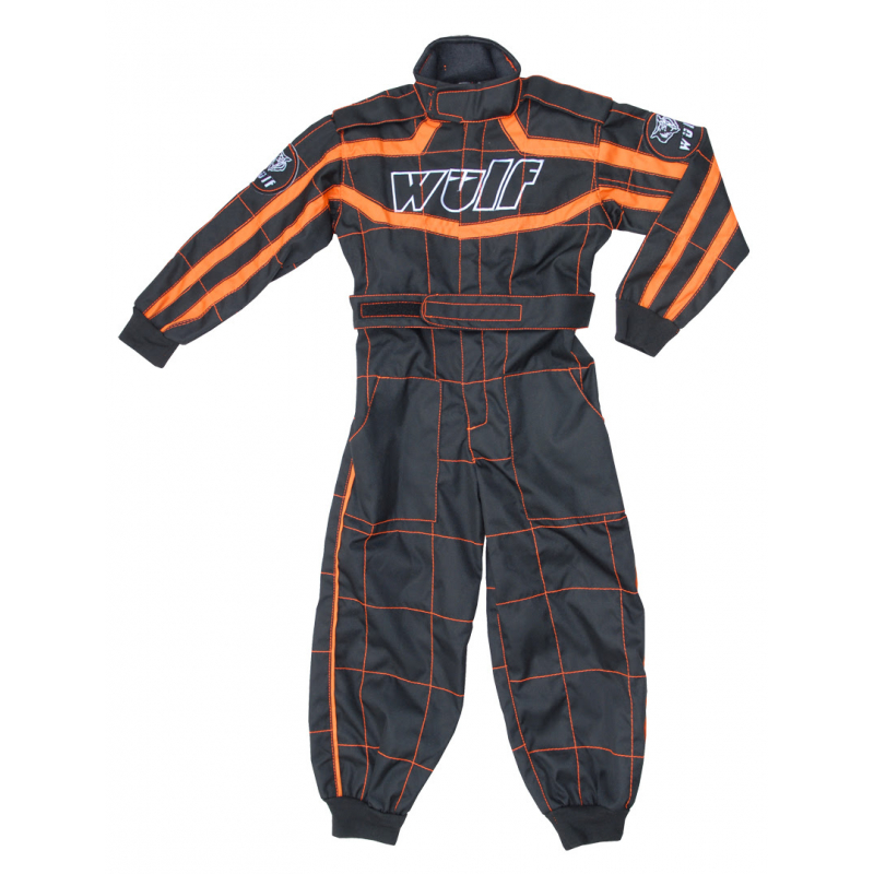 Wulfsport Cub Racing Suit - Black / Orange