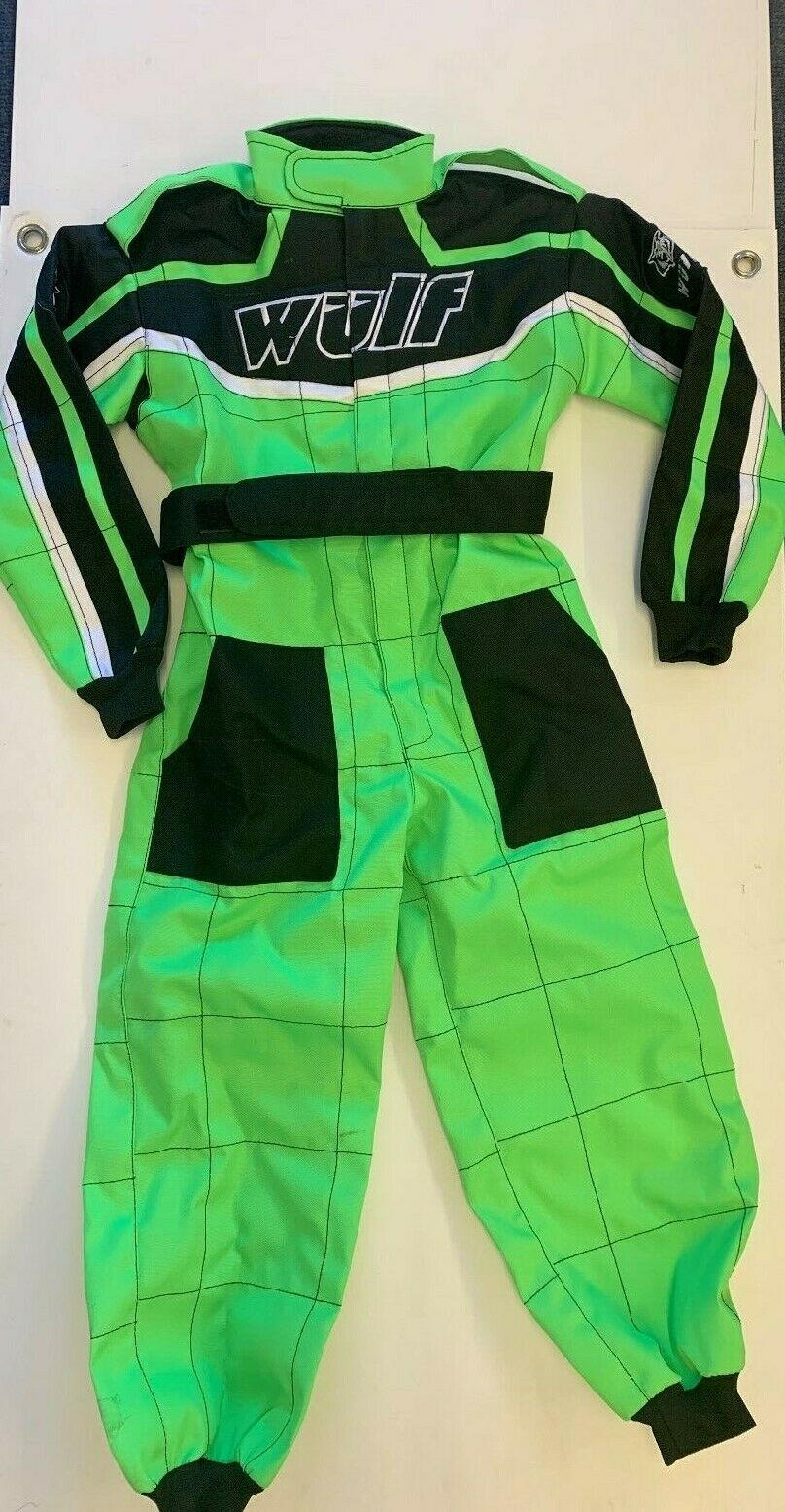 Wulfsport Cub Racing Suit - Green