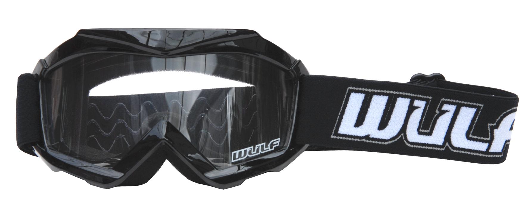 Wulfsport Cub Tech Goggles for MX Enduro - Black