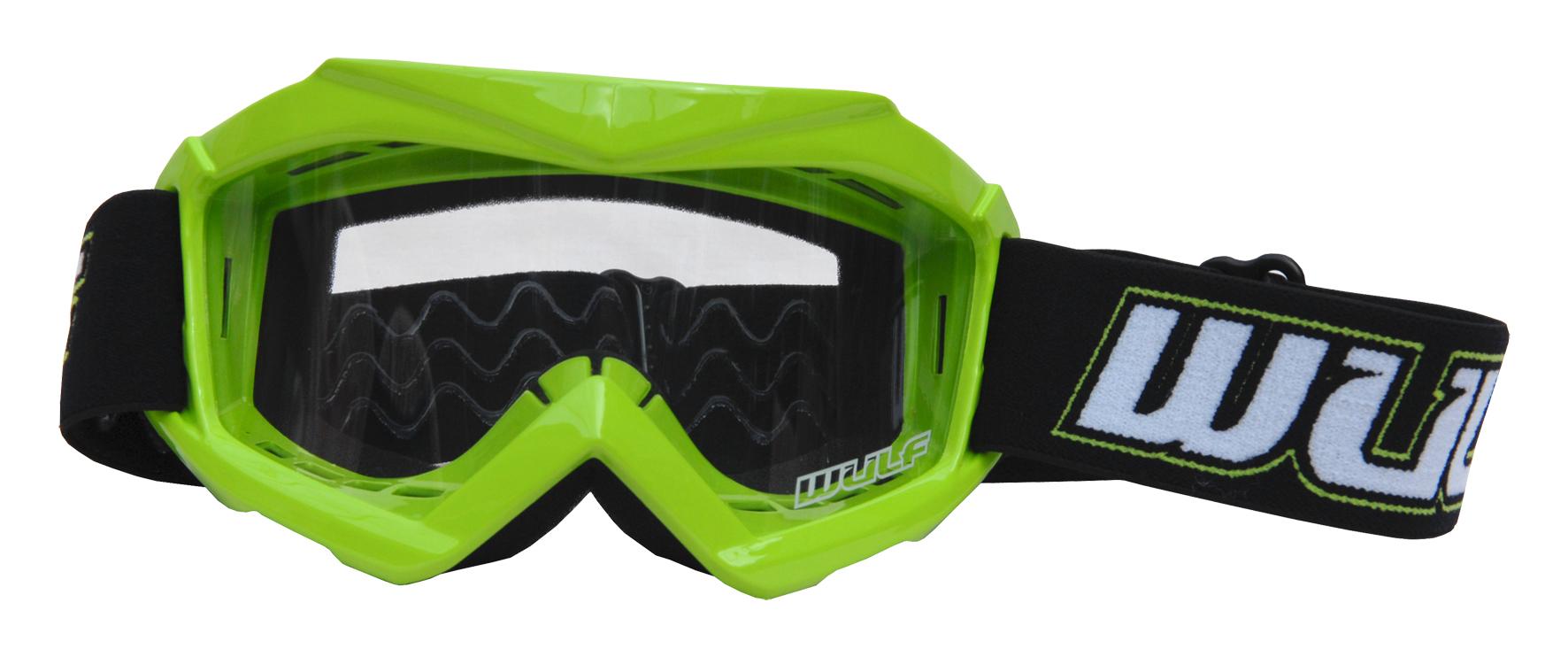 Wulfsport Cub Tech Goggles for MX Enduro - Green