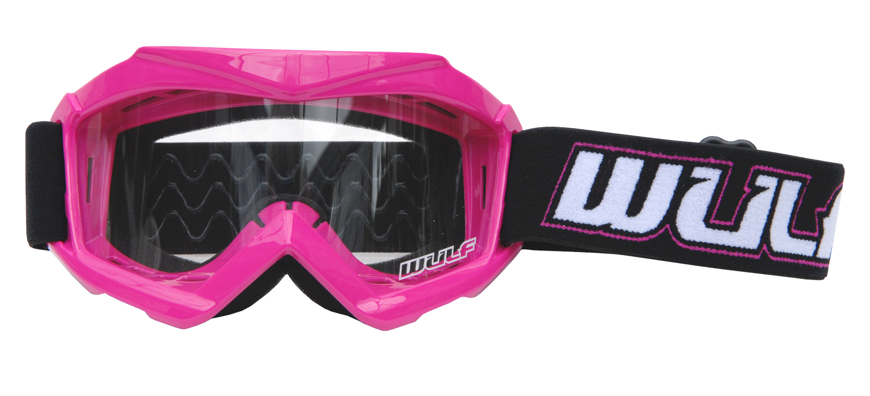 Wulfsport Cub Tech Goggles for MX Enduro - Pink