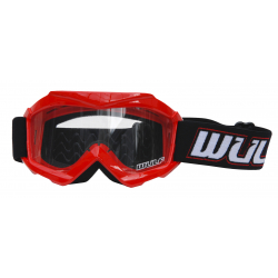 Wulfsport Cub Tech Goggles for MX Enduro - Red