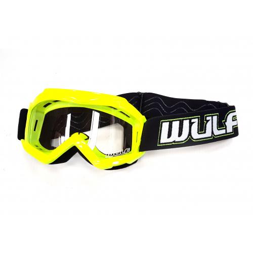 Wulfsport Cub Tech Goggles for MX Enduro - Yellow