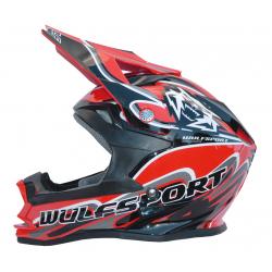 Wulfsport K2 Cub Helmet - Red