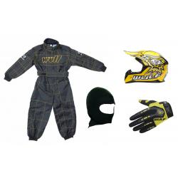 Yellow Wulfsport Clothing & Helmet Discount Bundle Deal
